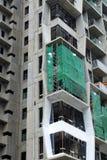 一个现代摩天大楼的建造场所 库存图片