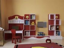 一个现代样式的儿童居室 免版税库存照片