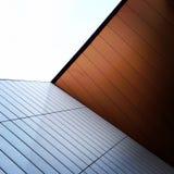 一个现代建筑角落的细节 免版税库存照片