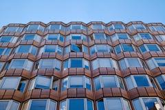 一个现代设计的大厦在布达佩斯,匈牙利 库存图片