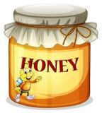 一个瓶子蜂蜜 向量例证