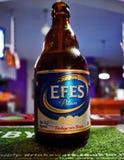 一个瓶Effs贮藏啤酒 库存照片