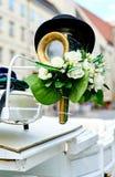 一个用马拉的婚礼支架的元素 免版税库存图片