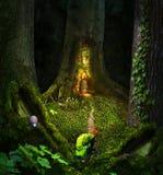 一个甲虫旅客的意想不到的故事在一个美妙的神仙的森林里 免版税库存图片