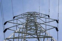 一个电子塔的上面 免版税库存图片