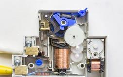 一个电楼梯定时器开关设备的细节 免版税图库摄影