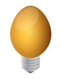 一个电灯泡鸡蛋 免版税库存照片