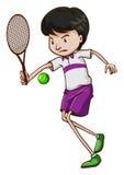 一个男性网球员 库存照片