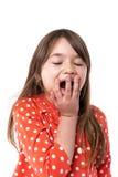 一个疲乏的小女孩的画象 库存图片