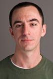 白种人男性Headshot 免版税库存图片