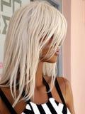 一个白肤金发的时装模特 库存图片