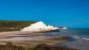一个白色峭壁海滩区域 库存图片