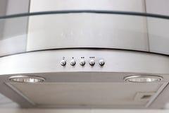 一个白色提取器敞篷的控制 库存图片