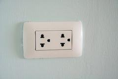 一个白色插座插口 免版税图库摄影