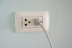 一个白色插座插口 库存图片
