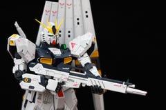 一个白色机器人的特写镜头 免版税库存图片