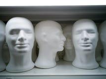 一个白色空白的白色男性头 库存图片