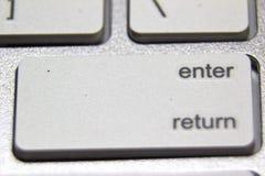 一个白色键盘的宏观图片 免版税库存照片