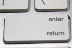 一个白色键盘的宏观图片 库存照片