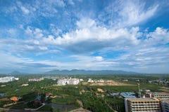 一个省的一种美好的都市风景在泰国 免版税库存图片