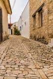 一个看法在Lania传统村庄在塞浦路斯 免版税库存照片