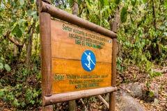 一个看法在Tayrona国家公园在哥伦比亚 图库摄影