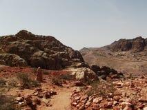 一个看法从Petra 免版税图库摄影