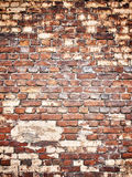 一个砖墙的纹理作为背景,与vin的难看的东西表面的 免版税库存照片