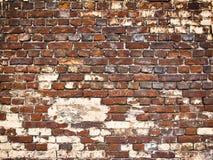 一个砖墙的纹理作为背景,与vin的难看的东西表面的 免版税图库摄影