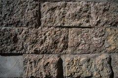 一个砖墙的纹理有水泥的 库存照片