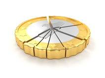 一个硬币圆形统计图表概念 免版税库存照片
