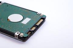 一个硬盘的特写镜头数据存储技术的在计算机硬盘驱动器上 免版税库存图片