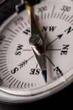 一个磁性指南针的细节 免版税库存图片