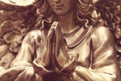 一个祈祷的天使的图 库存图片