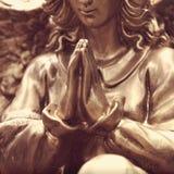 一个祈祷的天使的图 免版税库存图片