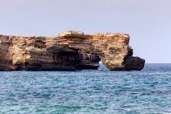 一个离开的海滩的看法在海岛克利特希腊上的 库存照片