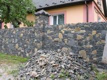 一个私有房子的篱芭 免版税库存照片