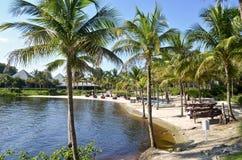 一个私有海滩的看法在一种中央佛罗里达手段的 图库摄影