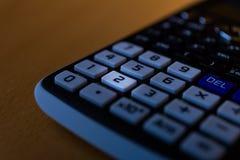 一个科学计算器的键盘的关键第三 图库摄影