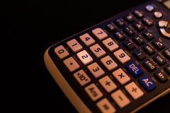 一个科学计算器的键盘的关键第三 免版税库存照片