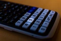 一个科学计算器的键盘的关键第五 库存图片