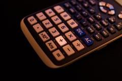 一个科学计算器的键盘的正增加关键 免版税库存图片