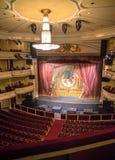 一个空的剧院的内部 免版税库存照片