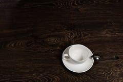 一个空的茶杯 免版税库存照片