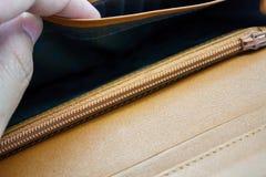 一个空的钱包 免版税库存照片