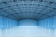 一个空的仓库大厦的内部 库存图片