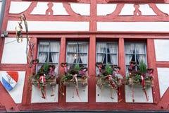 一个窗口的建筑细节在圣加连 免版税库存图片