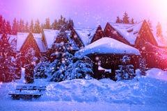 一个童话房子在森林 免版税图库摄影