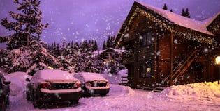 一个童话房子在森林 库存图片