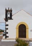 一个童话教会的响铃费埃特文图拉岛的 免版税库存照片